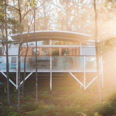 front on photo of our free spirit pod Bruny Island Accommodation