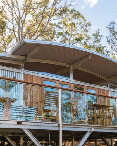 outdoor building persepctive of our Bruny Island Accommodation